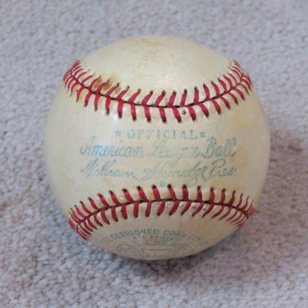 American-League-Game-Used-Baseball-William-Harridge-President