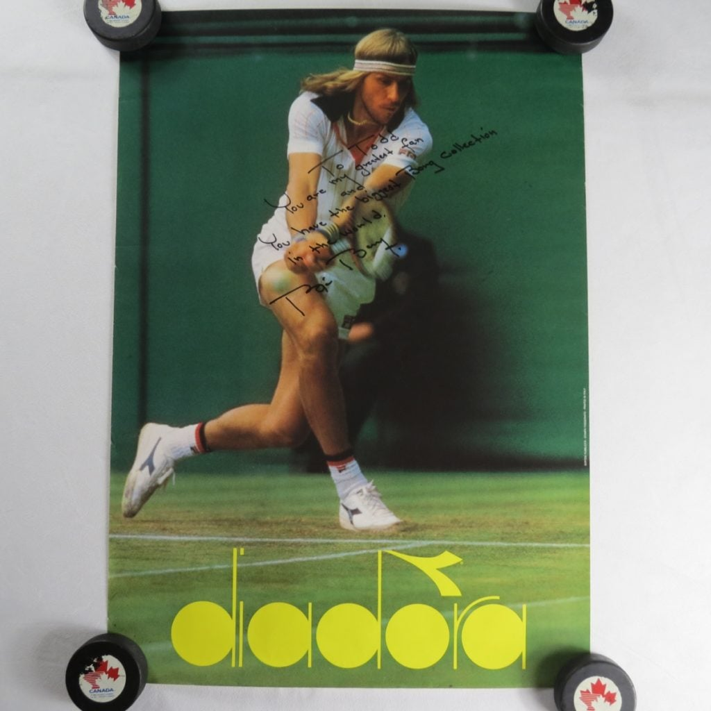 Diadora-tennis-shoes-Poster-Bjorn-Borg-Autograph-Tennis-star