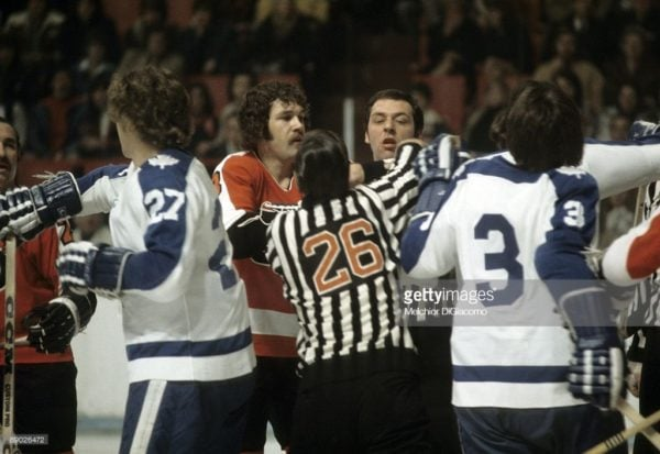 Flyers-Leafs-Maple-Leaf-gardens-NHL-Game