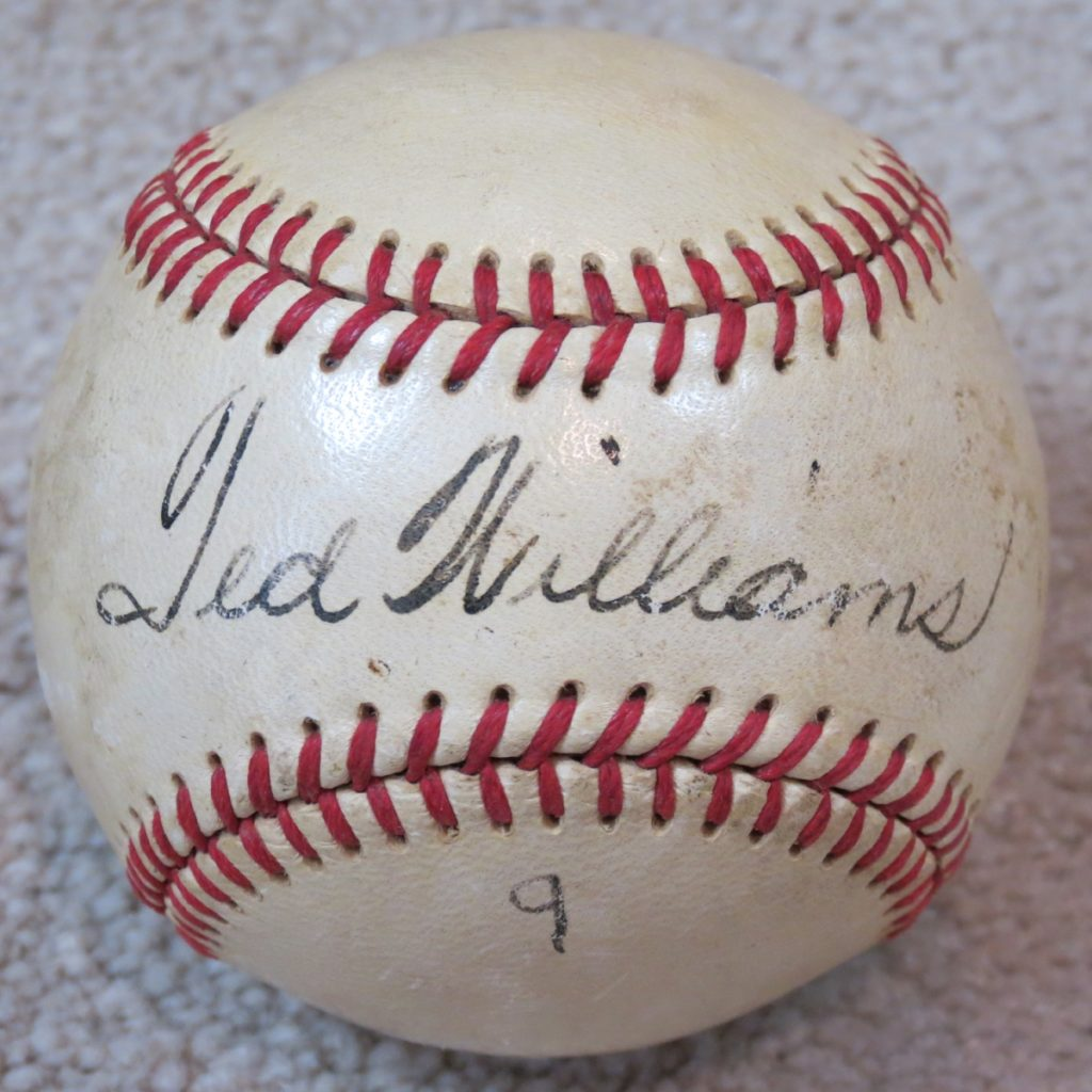 Ted-Williams-Autograph-Baseball-Boston-Red-Sox