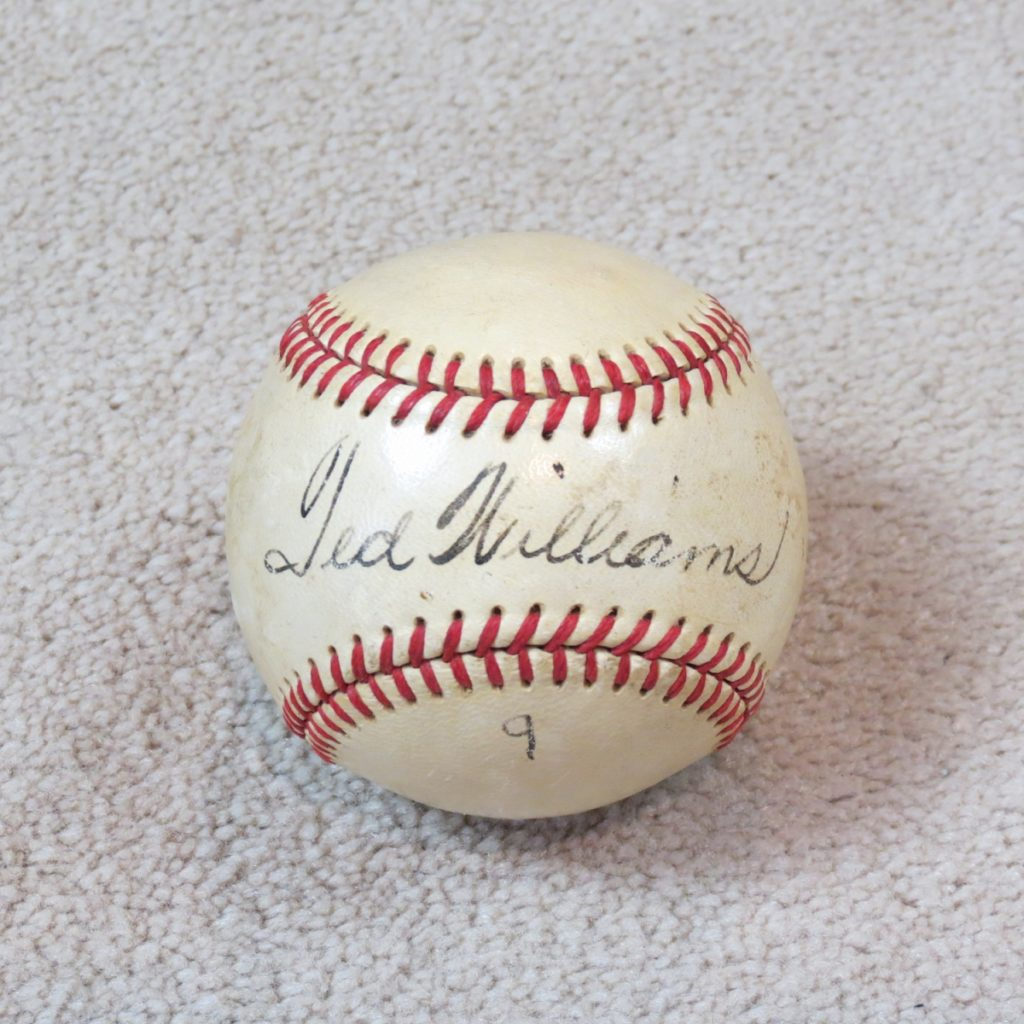Ted-Williams-Signed-Baseball