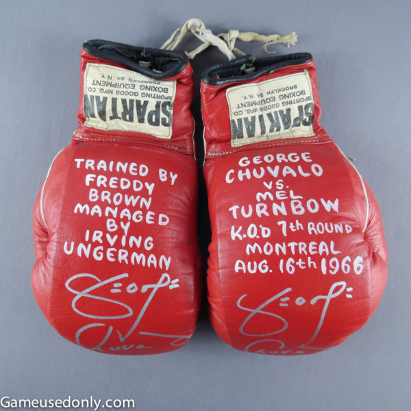 George-Chuvalo-Fight-Worn-Used-Gloves-Mel-Turnbow-Montreal-Canada