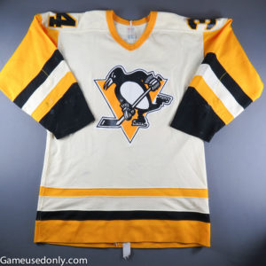 Randy-Hillier-Pittsburgh-Penguins-1984-1985-Game-Used-Jersey