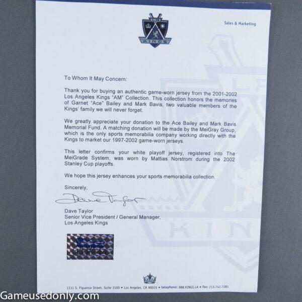 Dave-Taylor-LA-Kings-Jersey-Letter