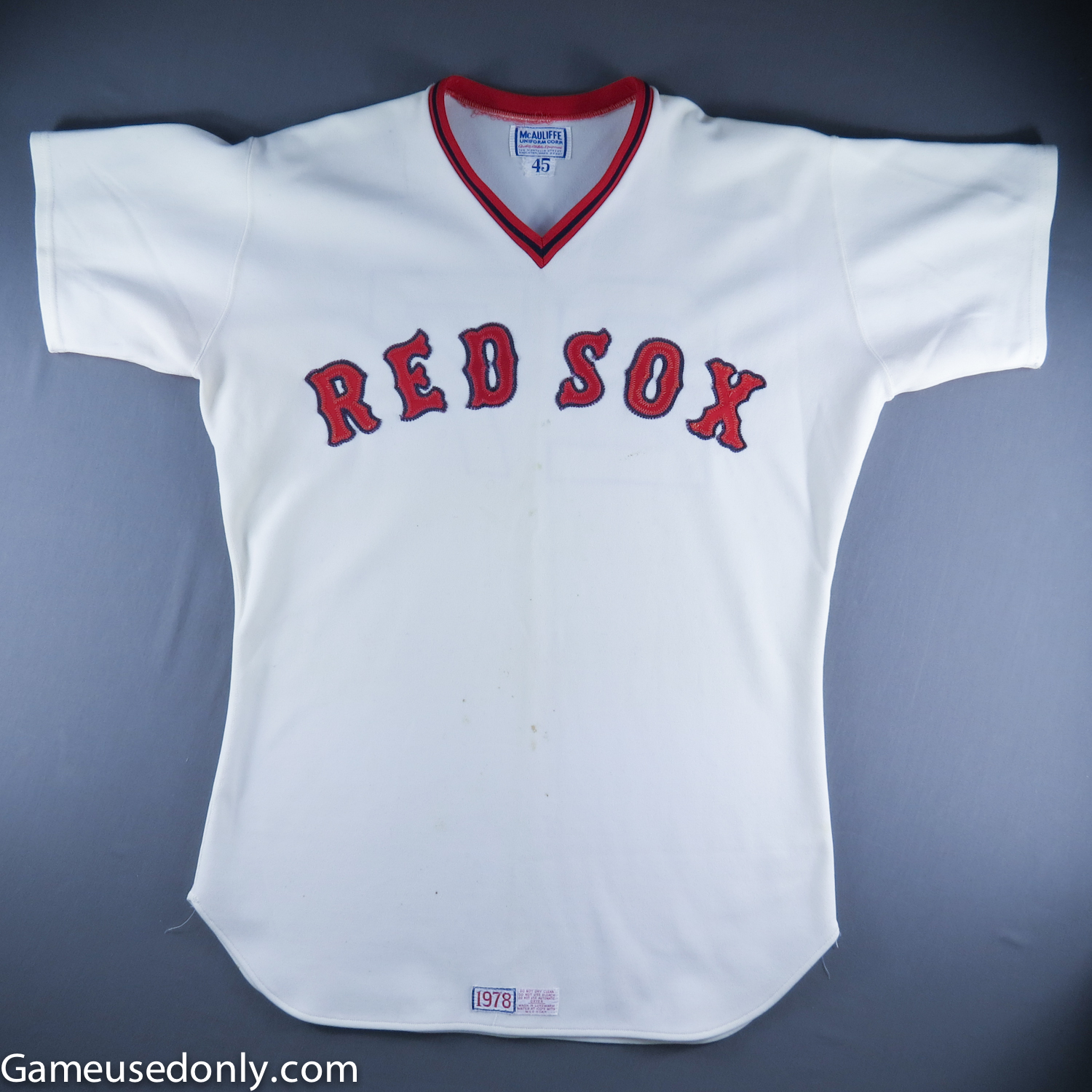 Carlton-Fisk-Boston-Red-Sox-Game-Used-Worn-Jersey-1978-Boston-Red-Sox