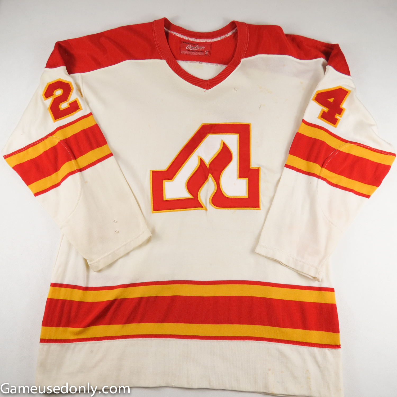 Dean-Talafous-Atlanta-Flames-1974-1975-Game-Used-Worn-jersey
