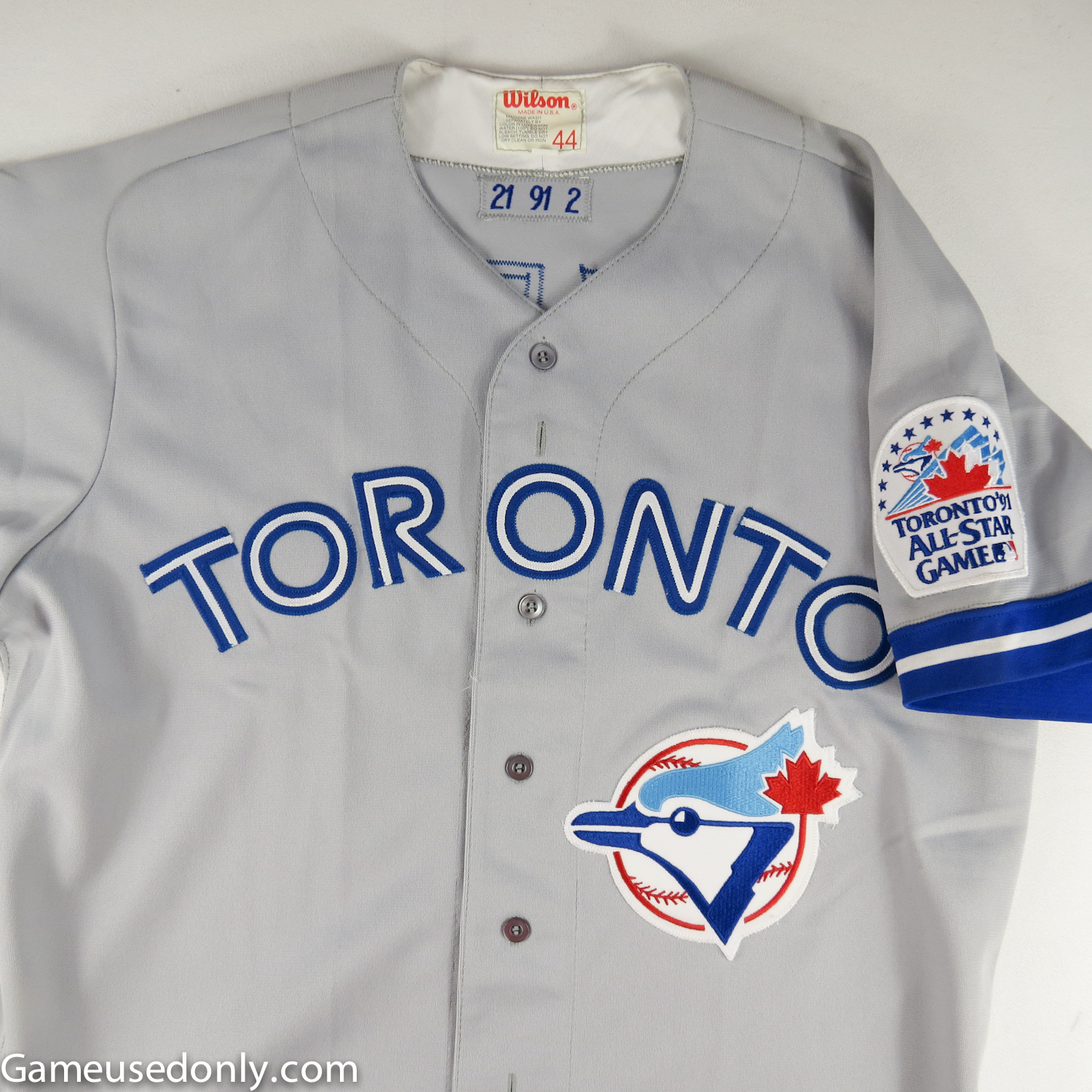 Toronto-Blue-Jays-All-Star-Patched-Game-Worn-Jersey-Greg-Myers