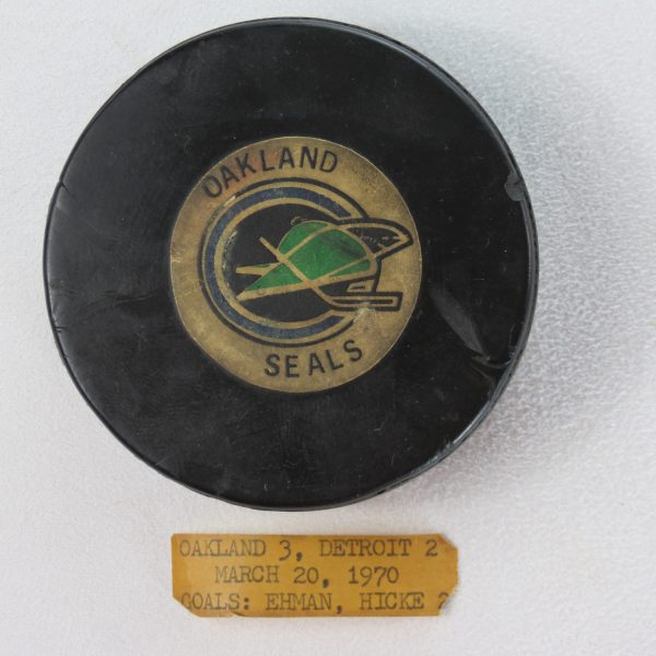 Oakland-Seals-Game-Used-Puck-1970