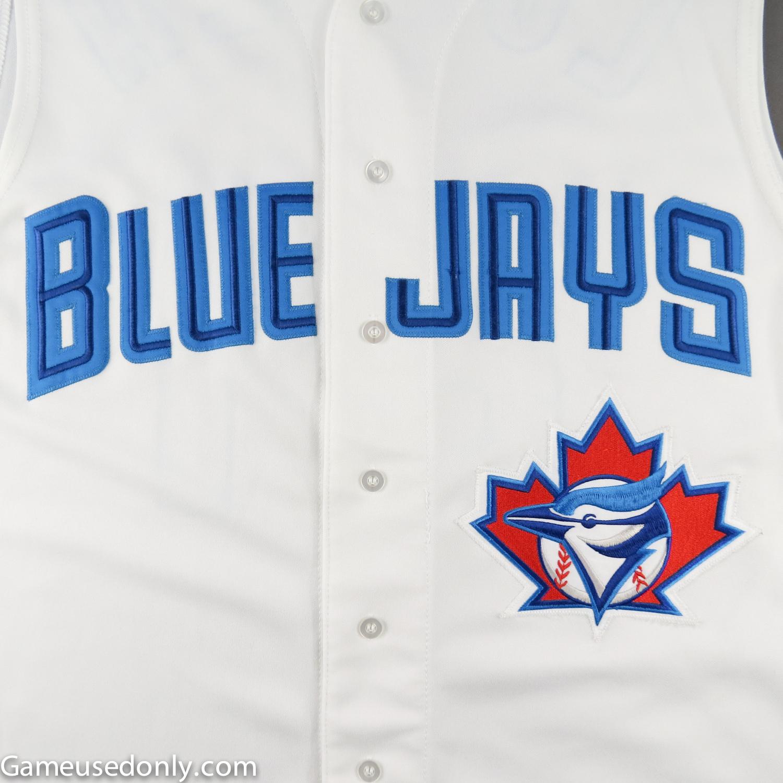 Toronto-Blue-Jays-Vest-Style-Game-Worn-Jersey-Skydome-Loiaza